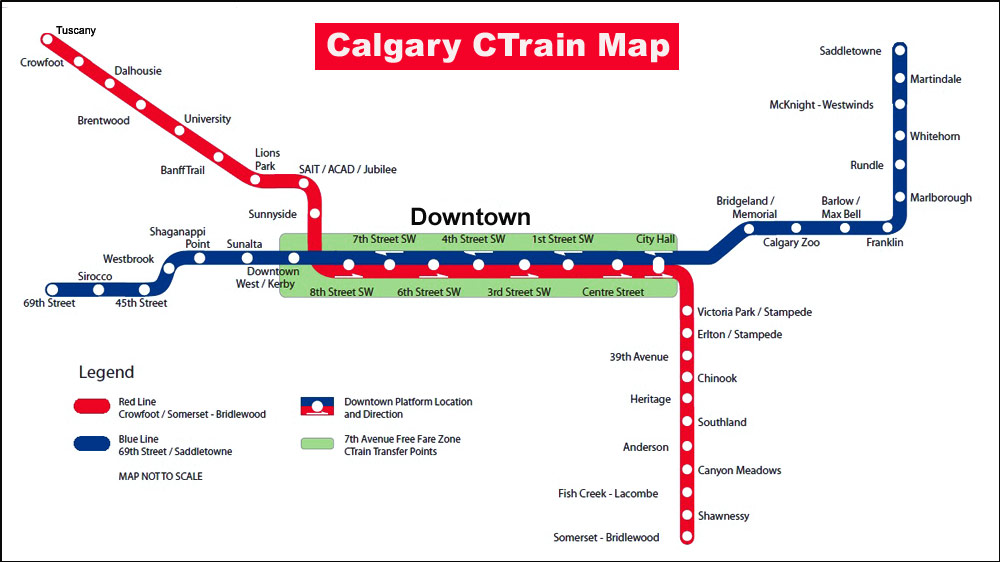 Calgary LRT Ctrain Stations carsandtrainscom