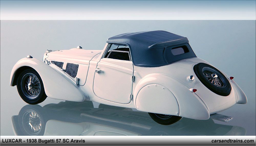 diecast king luxcar 1938 bugatti 57 sc aravis. Black Bedroom Furniture Sets. Home Design Ideas