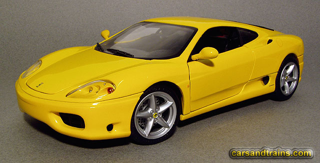 Diecast King Hotwheels Ferrari 360 Modena Coupe Yellow