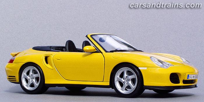 Diecast King Maisto Porsche 996 Turbo Cabriolet Yellow